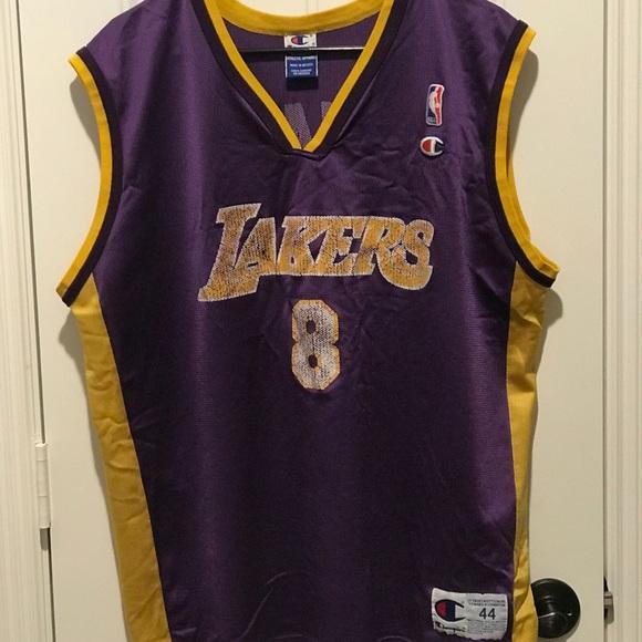 cheap for discount 9eac4 2cbfa Lakers - Kobe Bryant #8 Vintage Champion Jersey